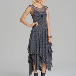 Dresses & Skirts - Lace boho asymmetrical dress